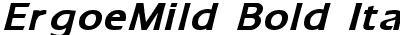 ErgoeMild Bold Italic