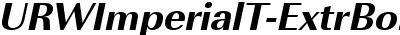 URWImperialT-ExtrBoldObli
