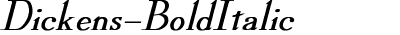 Dickens-BoldItalic
