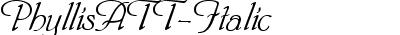PhyllisATT-Italic