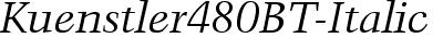 Kuenstler480BT-Italic