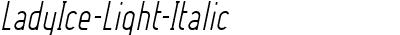 LadyIce-Light-Italic