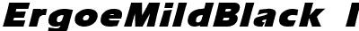 ErgoeMildBlack Italic