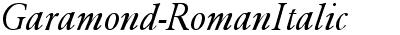 Garamond-RomanItalic