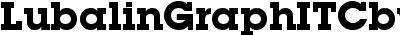 LubalinGraphITCbyBT-Bold