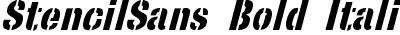 StencilSans Bold Italic