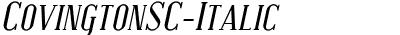 CovingtonSC-Italic