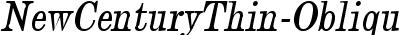 NewCenturyThin-Oblique
