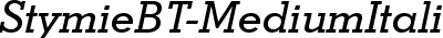 StymieBT-MediumItalic