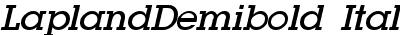 LaplandDemibold Italic