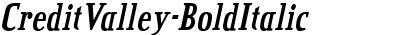 CreditValley-BoldItalic