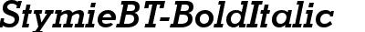 StymieBT-BoldItalic