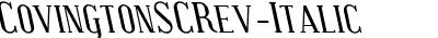 CovingtonSCRev-Italic
