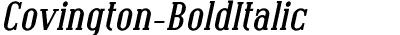 Covington-BoldItalic