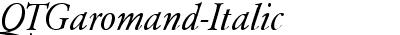 QTGaromand Italic