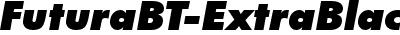 FuturaBT-ExtraBlackItalic