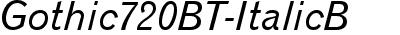 Gothic720BT-ItalicB