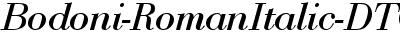 Bodoni-RomanItalic-DTC