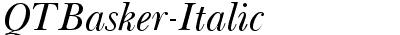 QTBasker-Italic