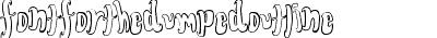 FontForTheDumpedOutline