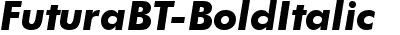 FuturaBT-BoldItalic