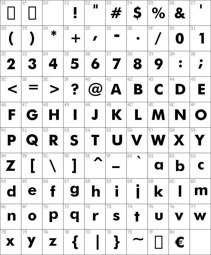 FuturaBT-Bold font