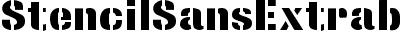 StencilSansExtrabold Regu...