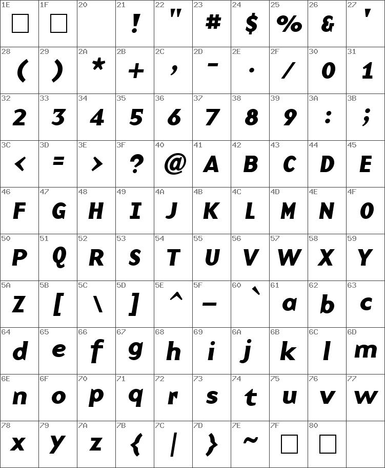 BaseNine Bold Italic