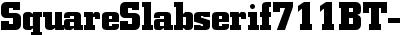 SquareSlabserif711BT-Bold