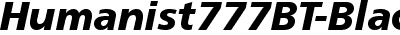 Humanist777BT-BlackItalic...