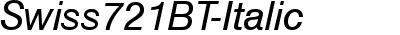 Swiss721BT-Italic