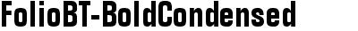 FolioBT-BoldCondensed