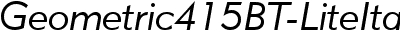 Geometric415BT-LiteItalic...