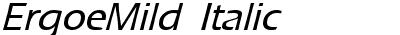 ErgoeMild Italic