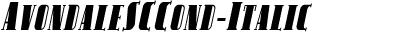 AvondaleSCCond-Italic