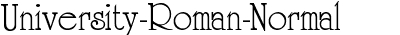 University-Roman-Normal