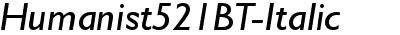 Humanist521BT-Italic