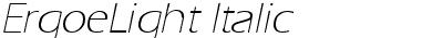 ErgoeLight Italic