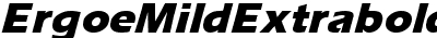 ErgoeMildExtrabold Italic