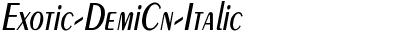Exotic-DemiCn-Italic