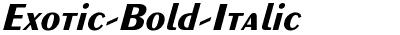 Exotic-Bold-Italic