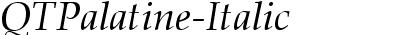QTPalatine Italic