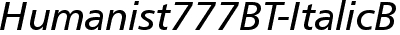 Humanist777BT-ItalicB