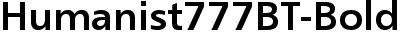 Humanist777BT-BoldB