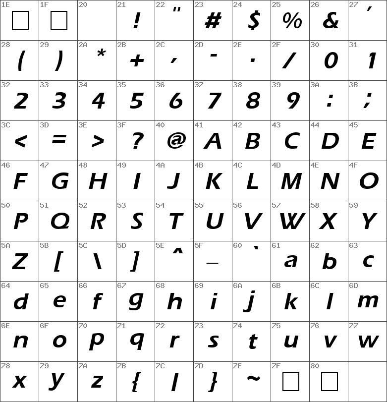 Ergoe Bold Italic