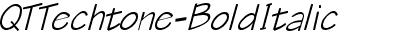 QTTechtone Bold Italic