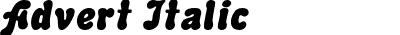 Advert Italic