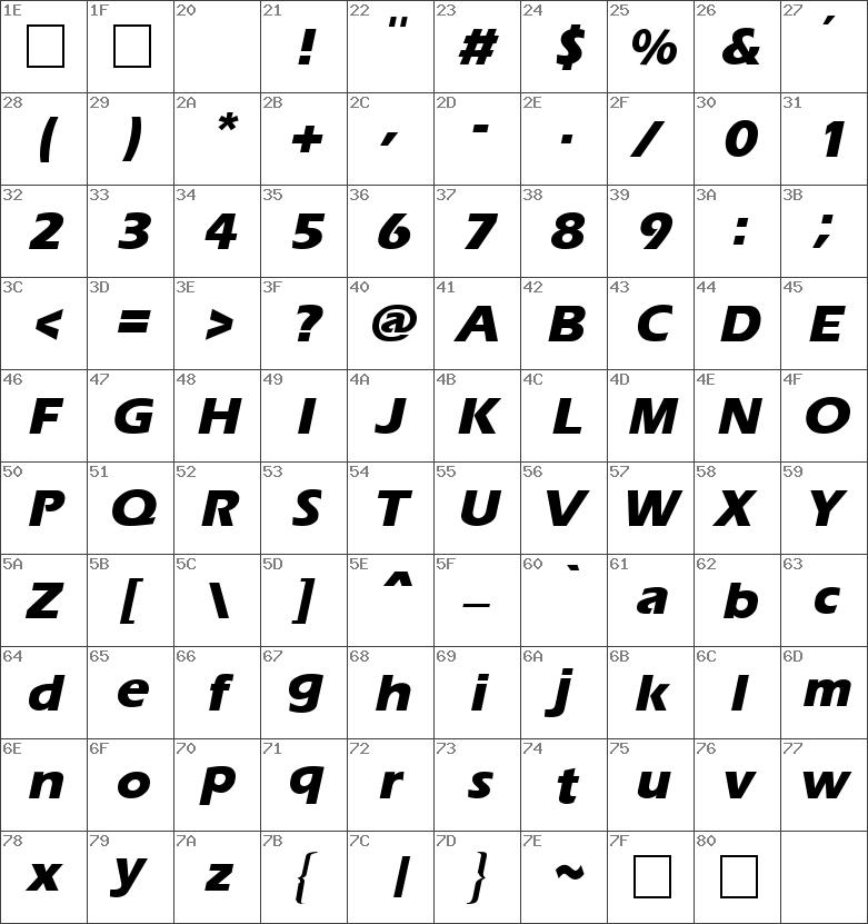 Ergoe Extrabold Italic