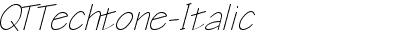 QTTechtone Italic