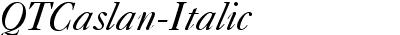 QTCaslan-Italic